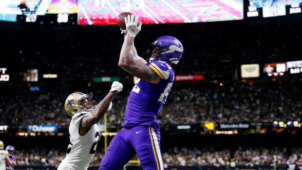 Al Riveron confirmed that officials were confident in upholding Kyle Rudolph's game-winning touchdown.
