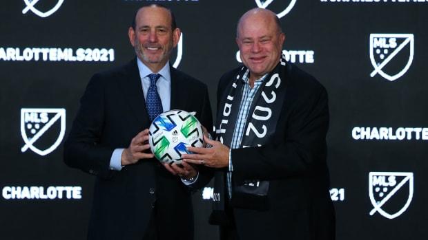 MLS commissioner Don Garber and Charlotte MLS owner David Tepper