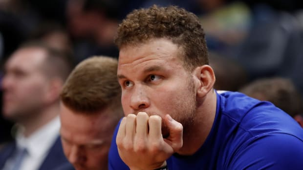 Pistons' Blake Griffin on the bench
