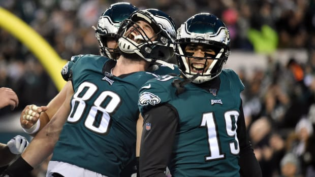This will be an important offseason for Eagles WR J.J. Arcega-Whiteside (No. 19), whose rookie year was underwhelming