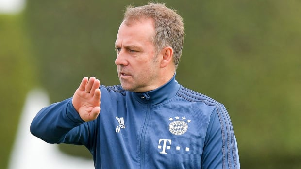 Bayern Munich coach Hansi Flick at winter training camp
