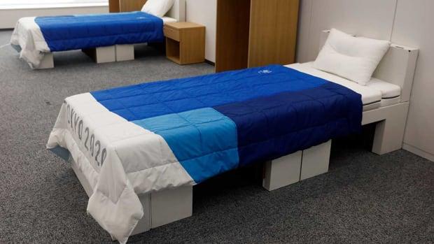 Tokyo Olympics Cardboard Bed Frame