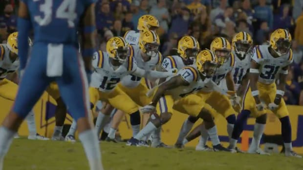 Screenshot from LSU football's national championship hype video