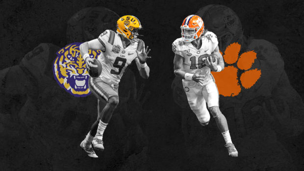 LSU vs Clemson Joe Burrow Trevor Lawrence