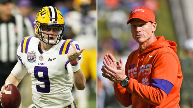 Joe Burrow LSU vs Clemson Brent Venables