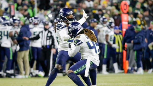 Shaquem and Shaquill Griffin combined for a sack in the NFC Divisional Round.
