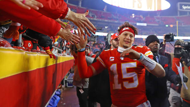 Patrick Mahomes and the Chiefs advanced to the AFC Championship game.