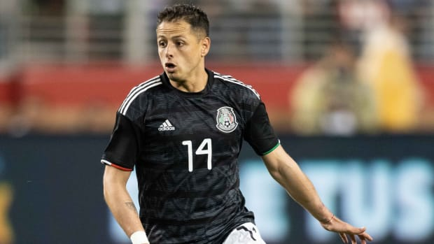 Mexico forward Javier Hernandez during the second half against Paraguay at Levi's Stadium.