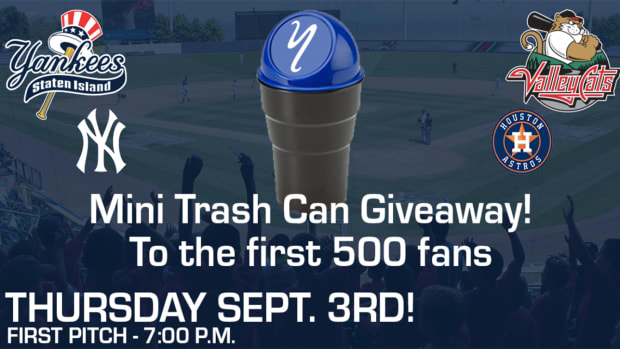 Yankees Astros Trash Can Giveaway