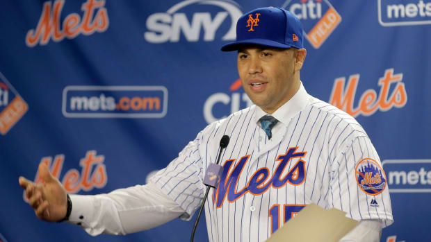 Carlos Beltran was introduced as the Mets' manager in November.