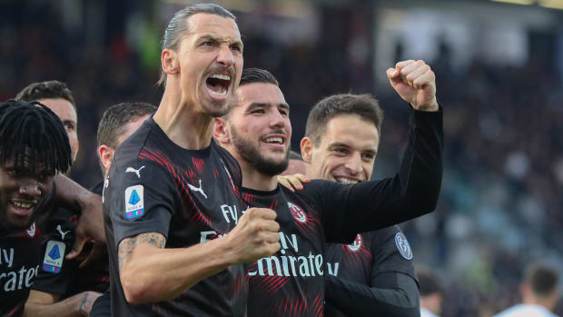 Zlatan Ibrahimovic makes an instant impact at AC Milan
