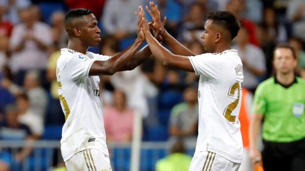 Vinicius Junior and Rodrygo of Real Madrid