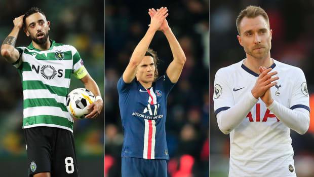 Bruno Fernandes, Edinson Cavani and Christian Eriksen could all move in the transfer window