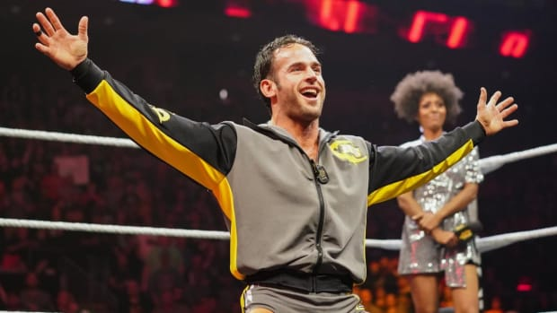 WWE's Roderick Strong in the ring before a match on NXT