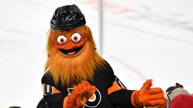 The Philadelphia Flyers' mascot, Gritty, is under investigation for alleged assault.
