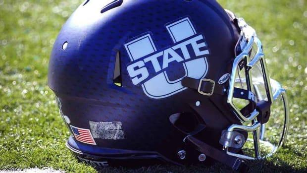Utah State Helmet (PHOTO:  USU SID)