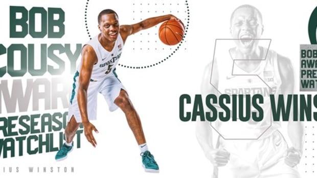 Cassius Winston Selected to Bob Cousy Award Preseason Watch List (PHOTO:  MSU SID)