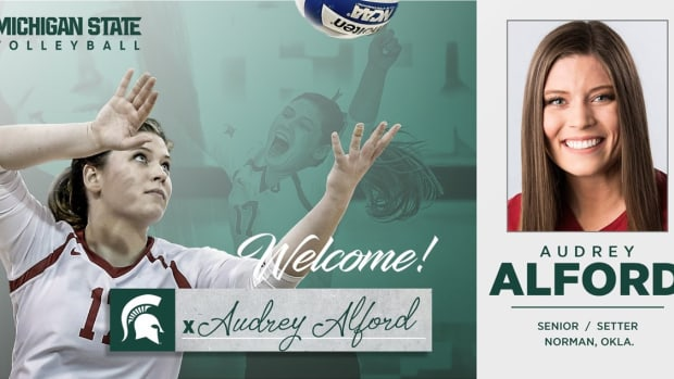 Michigan State volleyball coach Cathy George has announced the addition of setter Audrey Alford  (PHOTO:  MSU SID)