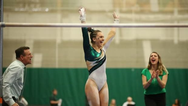 Remove term: Michigan State Gymnastics Michigan State Gymnastics (PHOTO:  MSU SID)