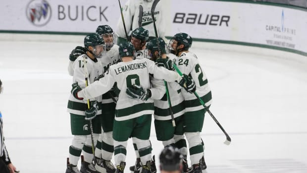 MSU Hockey (PHOTO:  MSU SID)