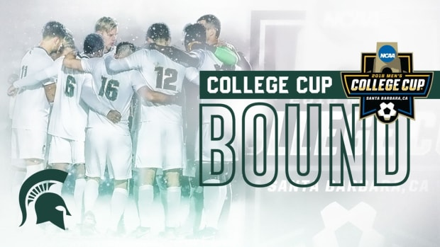 Michigan State's men's soccer (PHOTO:  MSU SID)