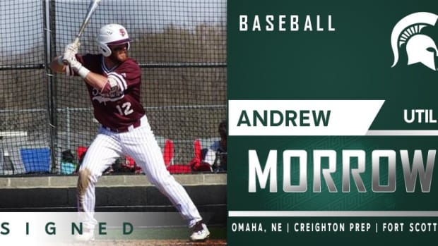 Andrew Morrow New Addition for  Michigan State baseball (PHOTO:  MSU SID)