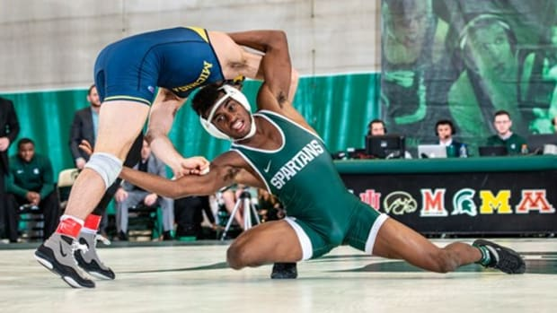 Michigan State wrestling (PHOTO:  MSU SID)