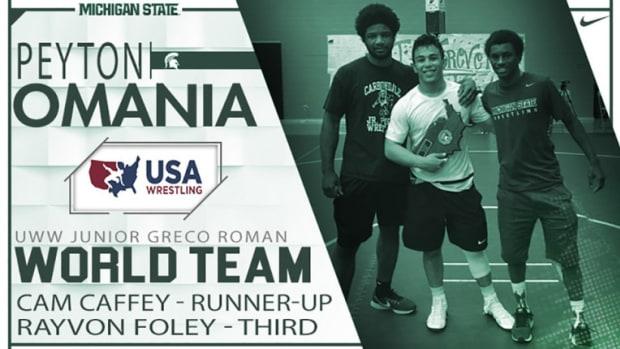 MSU Wrestling Incoming Freshman Peyton Omania Qualifies For Team USA At Junior Worlds (PHOTO: MSU SID)