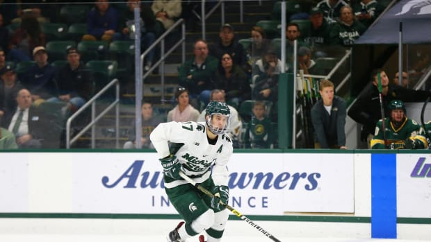 Michigan State forward Taro Hirose (PHOTO:  MSU SID)