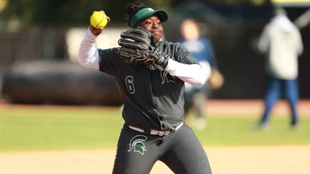 MICHIGAN STATE SOFTBALL (PHOTO:  MSU SID)