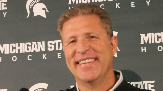 MSU Hockey Coach Danton Cole (PHOTO:  Duffy Carpenter)