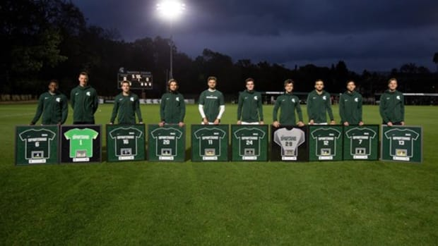 Michigan State men's soccer (PHOTO:  MSU SID)