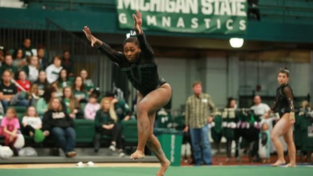 Michigan State Gymnastics (PHOTO:  MSU SID)
