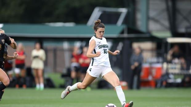 MSU Women's Soccer forward Camryn Evans  (PHOTO:  MSU SID)