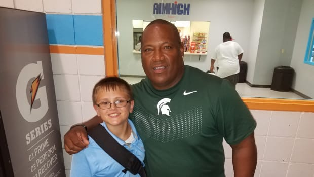 Duffy Carpenter and Spartan Nation ICON and college football Hall of Famer Lorenzo White.