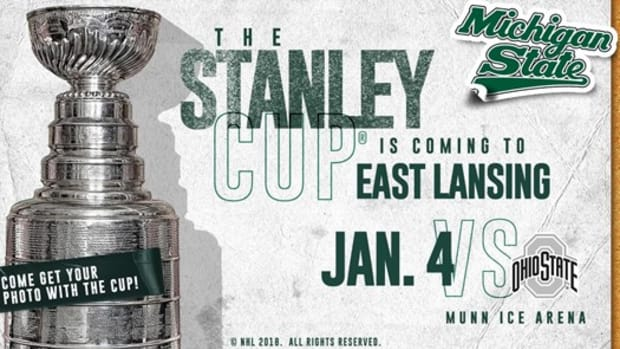 he Stanley Cup® on it's way to East Lansing (PHOTO:  MSU SID)