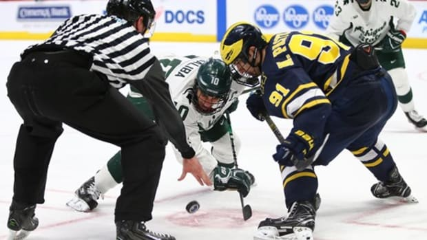 MICHIGAN STATE HOCKEY VS UM (PHOTO:  MSU SID)