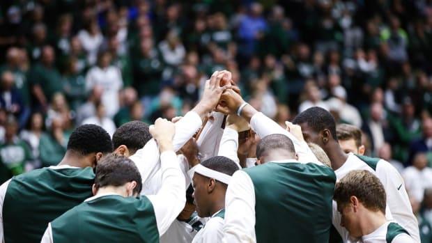 Michigan State's men's basketball (PHOTO:  MSU SID)
