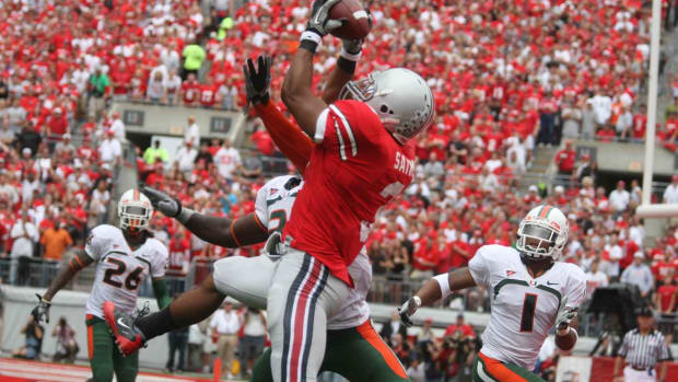The Ohio State Buckeyes Took #12 Miami, FL to task and Spartan Nation was there.  Photo courtesy of Bill Marklevits.