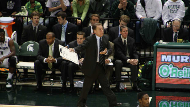 Tom Izzo recruited not only a great player, but a great family in the Trice's.  Photo courtesy of Mark Boomgaard.