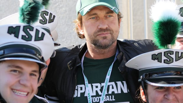 Gerard Butler had a good time watching some Big Ten football this weekend.  Photo courtesy of Mark Boomgaard.
