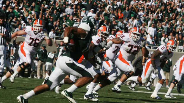 The Spartans have turned the Big Ten on it's ear!  Photo courtesy of Bill Marklevits.