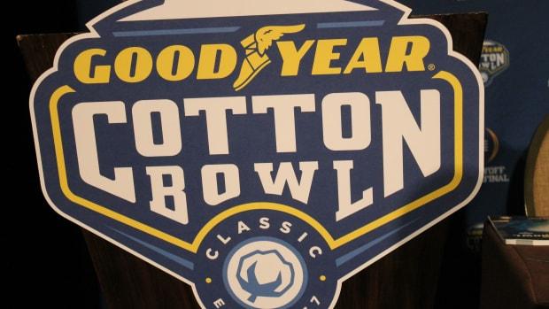 Goodyear Cotton Bowl Logo 2015.  Photo courtesy of Rick Waugh.