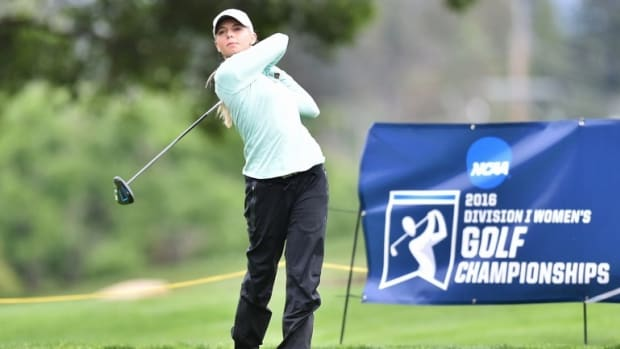 MSU Women's Golf star Sarah Burnham.  Photo courtesy of MSU SID.