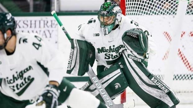 MICHIGAN STATE HOCKEY (PHOTO:  MSU SID)