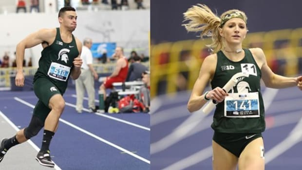 Michigan State track & field athletes Nick Guerrant and Annie Fuller  PHOTO:  MSU SID