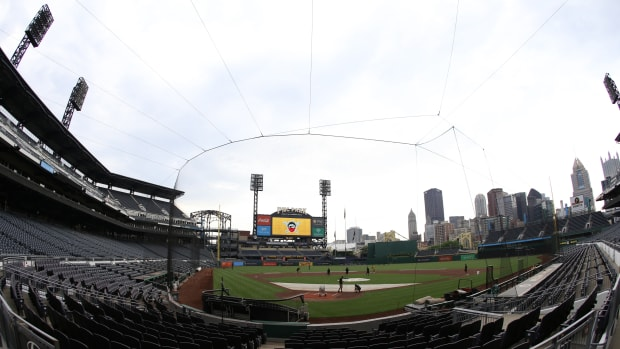 The Toronto Blue Jays are playing a majority of their 2020 home games at PNC Park in Pittsburgh, Pa.