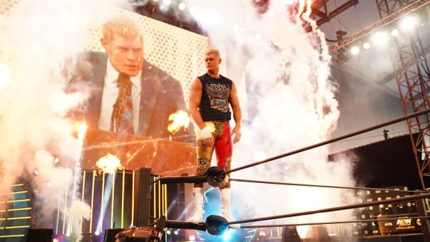 AEW's Cody Rhodes makes his entrance on Dynamite