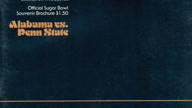 1975 Sugar Bowl game program cover: Alabama vs. Penn State