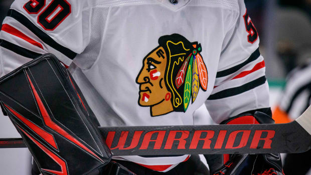 The Chicago Blackhawks have banned Native American headdresses at home games.